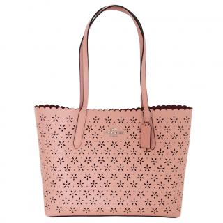 Coach Lasercut Pink Tote Bag