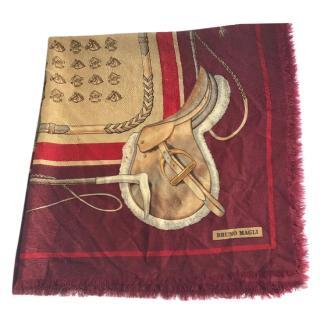 Bruno Magli Equestrian Silk Blend Scarf