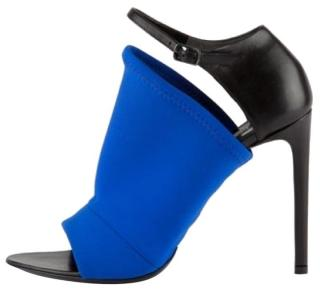 Balenciaga Black and Blue Neoprene Sandals