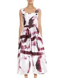Dolce & Gabbana printed silk Mikado dress