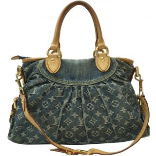 Louis Vuitton Neo Cabby MM Monogram Denim Shoulder Bag