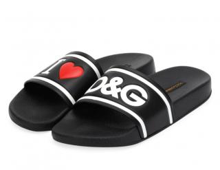 Dolce & Gabbana I Love D&G Beach Slide Sandal