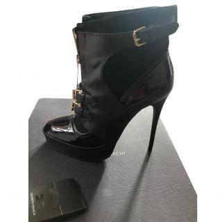 Elizabetta Franchi Multi-Buckle Black Ankle Boots