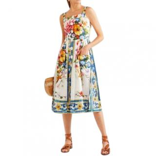 Dolce & Gabbana Sicily-Print Button-Down Dress