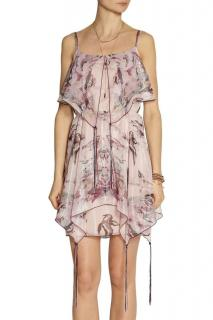 Anna Sui Bird-Jacquard Metallic Cami Dress