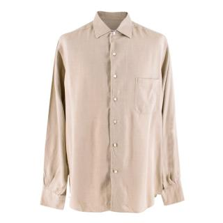 Loro Piana Beige Silk Shirt