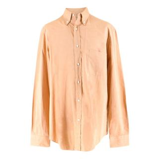 Loro Piana Pale Orange Men's Shirt