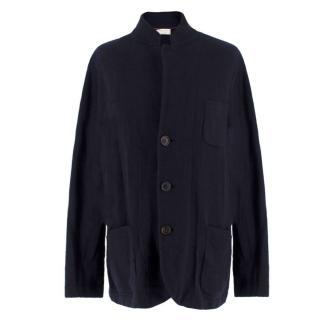 Brunello Cucinelli Men's Navy Cashmere Cardigan