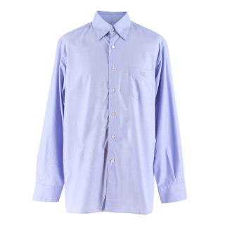 Canali Blue Cotton Shirt