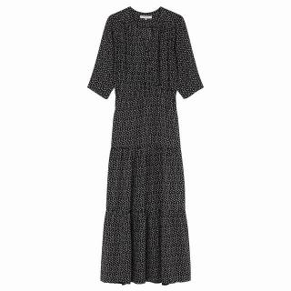 Gerard Darel Printed Floral Gypsy Dress