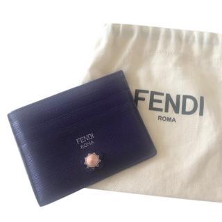 Fendi Purple Leather Cardholder