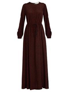 Diane Von Furstenberg Polka Dot Silk Long Dress