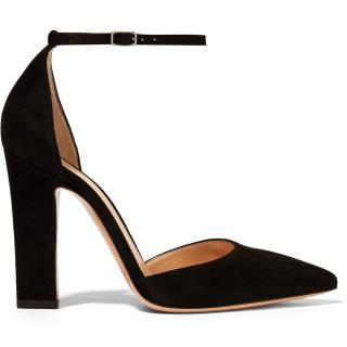 Gianvito Rossi Mila Suede Ankle Strap Pumps- As Worn By Kate Middleton