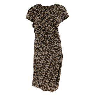 Isabel Marant Etoile Ruched Leopard Print Dress