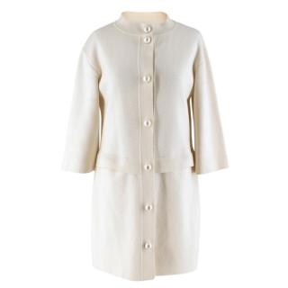 Moschino Cheap and Chic White Wool-blend Coat