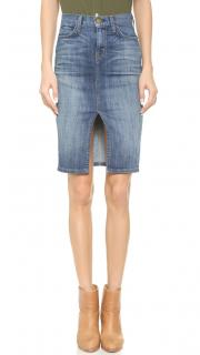 Current Elliot The High Waist Pencil Jupe Denim Skirt