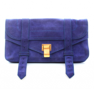 Proenza Schouler PS1 Suede Clutch Bag