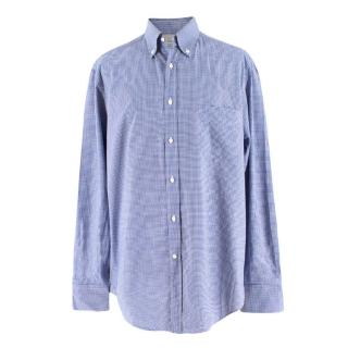 Brunello Cucinelli Men's Gingham Check Print Shirt