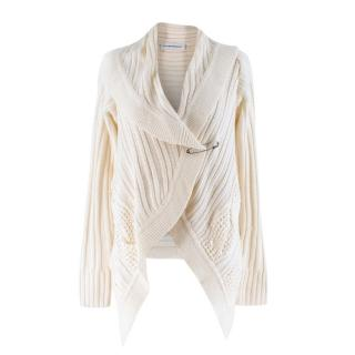 Kaufmanfranco White Cable-knit Cardigan