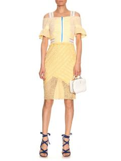 Peter Pilotto Amozon Selene Off-Shoulder Lace Dress