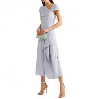 Roland Mouret Elliot Asymmetric Seersucker Dress