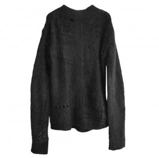 Rick Owens Wool Open Knit Jumper