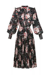 Elisabetta Franchi Floral Print Midi Dress