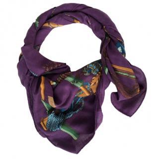 Hermes Passementierie Silk & Cashmere-Blend Scarf