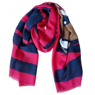 Moschino Cashmere Silk & Wool Teddy Bear Scarf