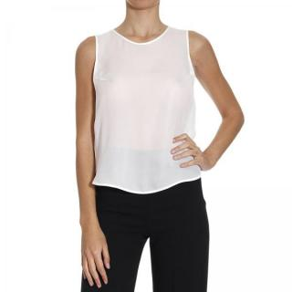 Emporio Armani Pale Grey Sheer Top