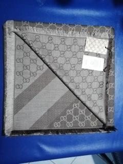 Gucci GG-Jacquard Wool & Silk-Blend Scarf