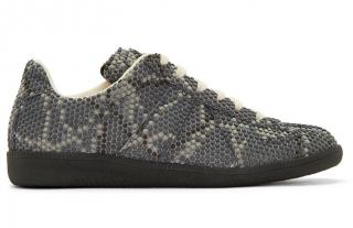Maison Martin Margiela Grey Snake Replica Sneakers