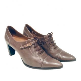 Hermes Lace-Up Leather Shoes