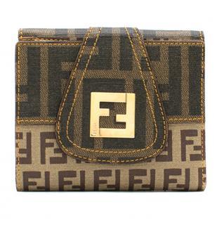Fendi Brown Monogram Mini Wallet