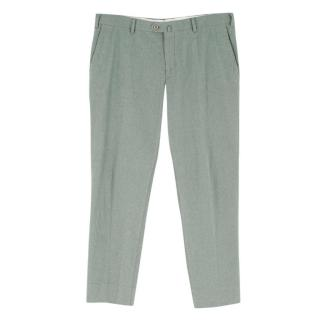 Loro Piana Men's Pale Green Trousers