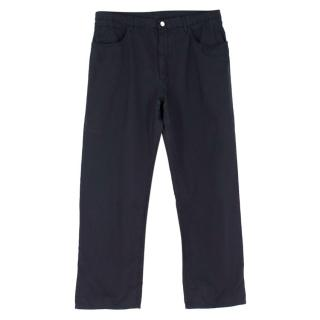 Loro Piana Dark Navy Straight-leg Chino Trousers