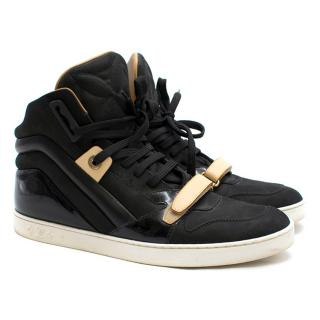 Louis Vuitton Black Suede Broken Beat High-top Trainers
