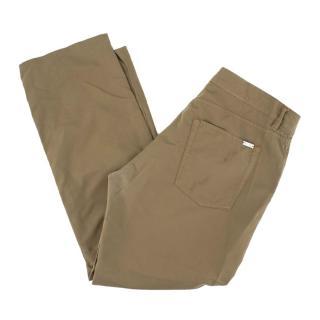 Loro Piana Men's Army Green Trousers