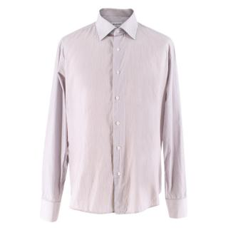 Balmain Men's Striped Cotton Shirt