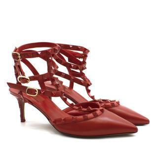 Valentino Garavani Rockstud Rouge Sling Heels