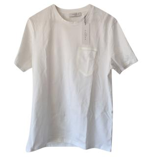 Sandro Patch-Pocket White T-shirt