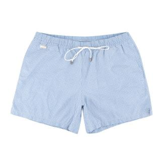 Brioni Blue Patterned Swim Shorts