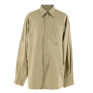 Kenzo Men's Army Green Cotton Shirt