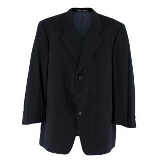 Giorgio Armani Men's Navy Single-Breasted Cashmere Blazer