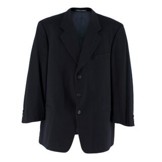Giorgio Armani Men's Navy Single-Breasted Cashmere Blazer