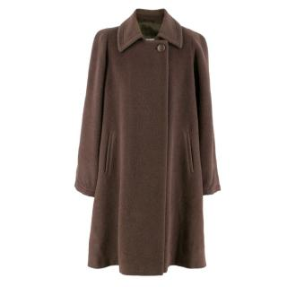 Juvenilia Torino Dark Brown Wool & Alpaca Coat