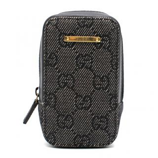 Gucci Denim Monogram Tech Case