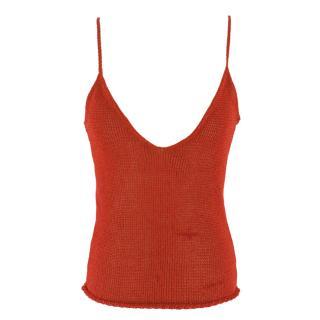 Krizia Maglia Red Knit Cami Top