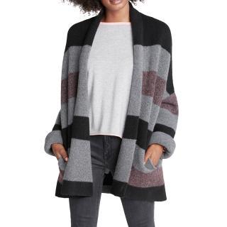 360 Sweater Paula Multi-Stripe Cashmere Cardigan