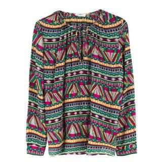 Ba&sh Multi-Color Geometric Print Blouse